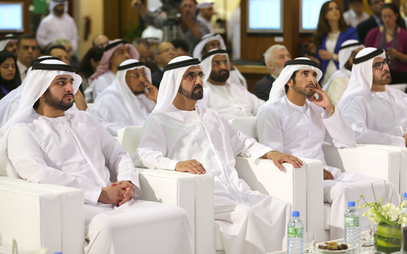 His Highness Sheikh Mohammed bin Rashid Al Maktoum attends the launch of initiative in Dubai today (Wam)