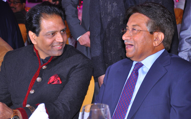 Pervez Musharraf attends a wedding at The Atlantis hotel in Dubai in January 2013 file photo. (SUPPLIED)