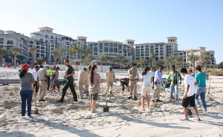 Dunes restoration on Saadiyat beach. (SUPPLIED)