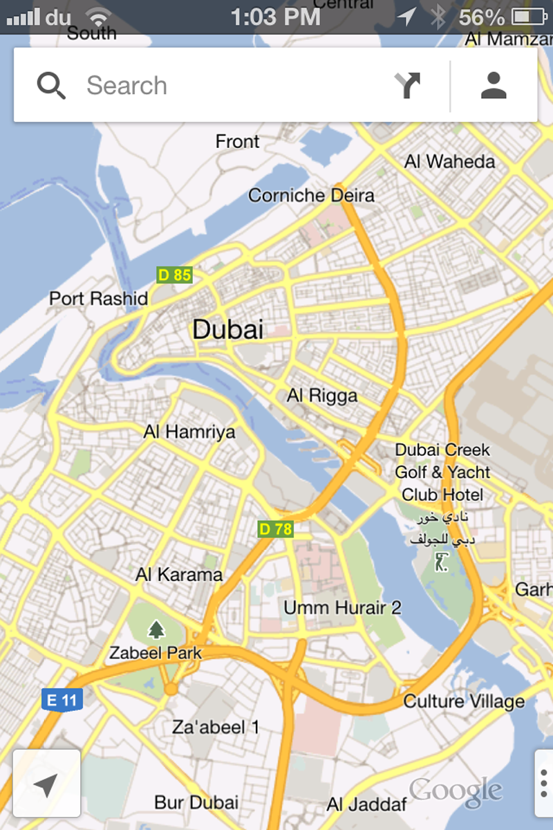 Google Maps Launched For IPhone Users In UAE Emirates - Map of egypt and uae