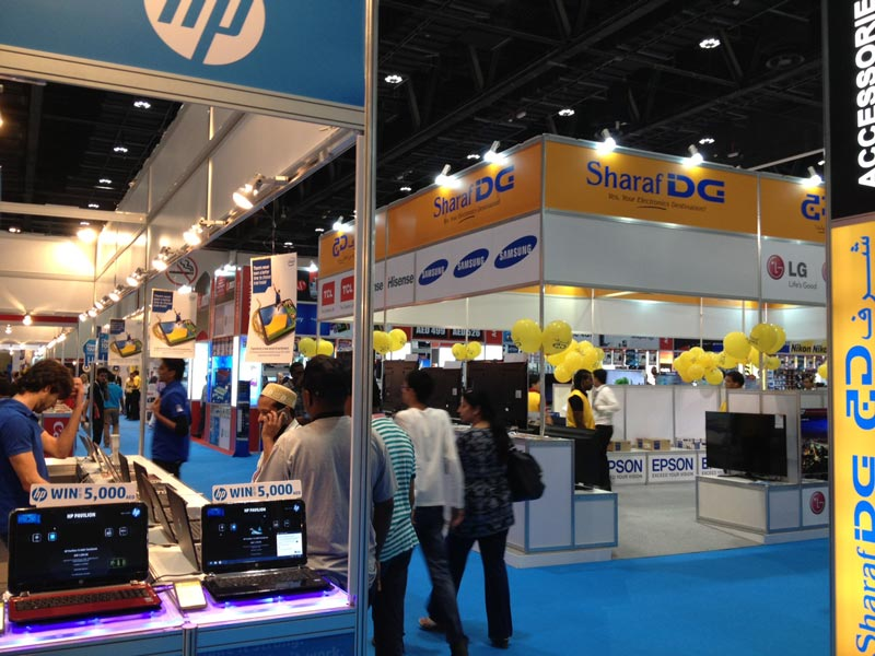 The first Abu Dhabi Electronics Shopper exhibition, a four-day event, opened on Thursday.