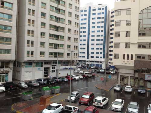 Rainfall in Abu Dhabi (Picture by Viram Ashar)