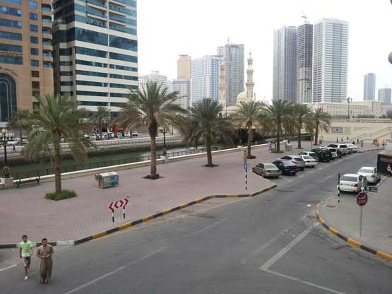 Cloudy weather in Sharjah on Monday evening (Picture by Khawaja Azfer)
