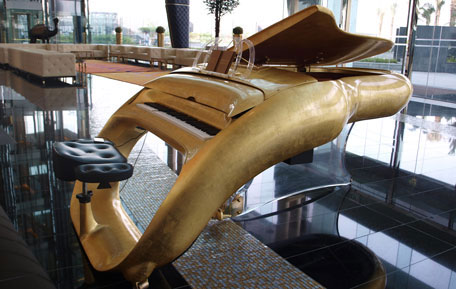 Customized gold plated Piano (SUPPLIED)