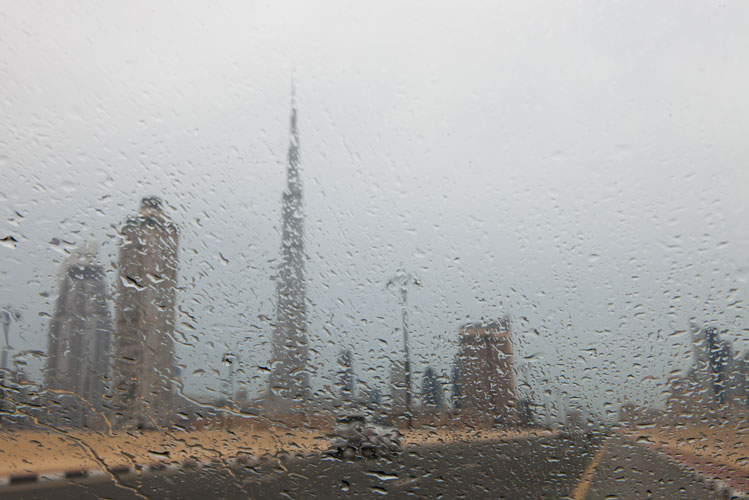 Rain in Dubai on Monday afternoon: Picture by Emirates24|7 reader Ahmad Ardity