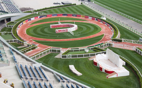 Preparations are on in full-swing at Meydan for the Dubai World Cup 2013. Photo by Ahmad Ardity