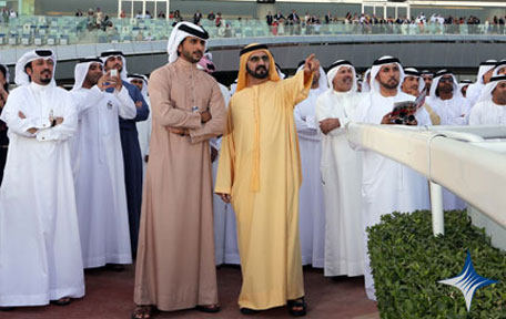 His Highness Sheikh Mohammed at Meydan for the Dubai World Cup 2013. (SUPPLIED)
