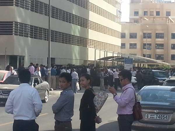 Buildings have been evacuated in Tecom area in Dubai
