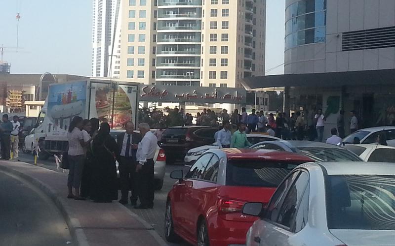 Buildings evacuated in Dubai (Majorie Van Leijen)