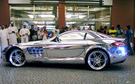 Only In Dubai White Gold Merc Goes Viral Emirates 247