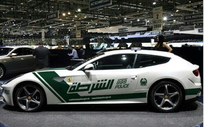 Ferrari joins Dubai Police HQ patrol fleet.