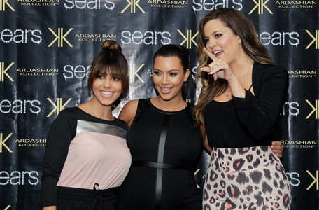 Kourtney Kardashian, Kim Kardashian and Khloe Kardashian Odom: Sears In-Store Appearance For Kardashian Kollection. (Getty)