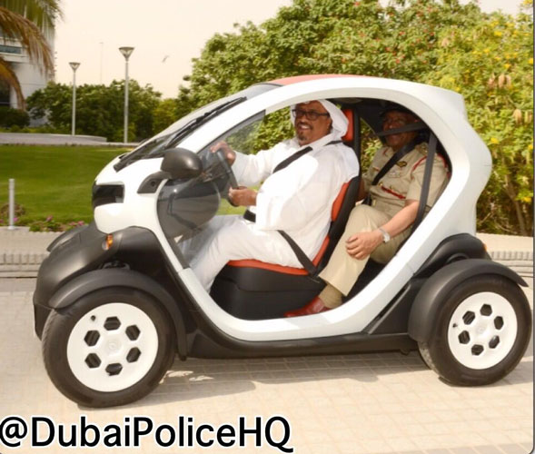 Dubai Police Chief Tests Eco Friendly Car Emirates