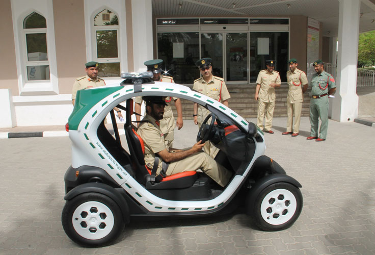 After Super Cars Dubai Police Launches Eco Friendly Mini Car