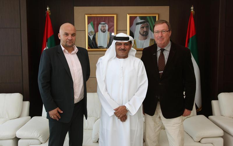 Khamis Juma Buamim, Chairman Drydocks World & Maritime World, with Arkadiusz Majerski, President and CEO Deep Ocean Technology and Bogdan Gutkowski president of BIG INVEST. (Supplied)