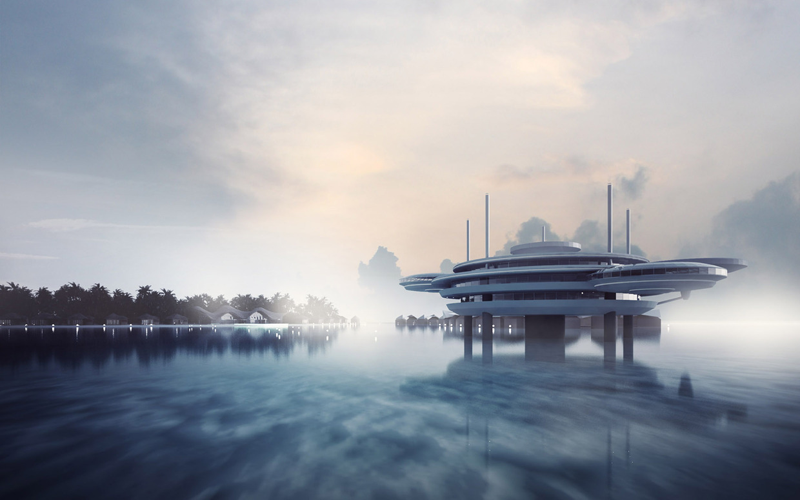 An artist's impression of the Water Discus Hotel. (Supplied)