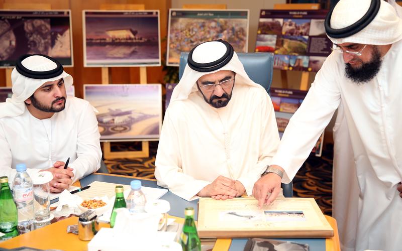 His Highness Sheikh Mohammed bin Rashid Al Maktoum visits Dubai Municipality (Wam)
