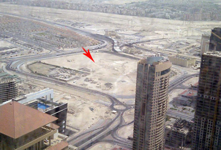 The site of the world's tallest commercial tower coming up in Dubai (PARAG DEULGAONKAR)