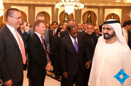 Mohammed bin Rashid exchanged Ramadan greetings with businessmen