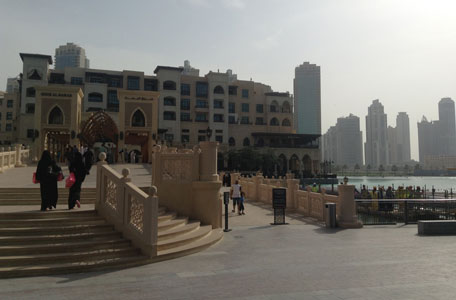 The addition to the existing bridge connecting Dubai Mall to Souk al Bahar was completed with the end of Ramadan. (Majorie Van Leijen)