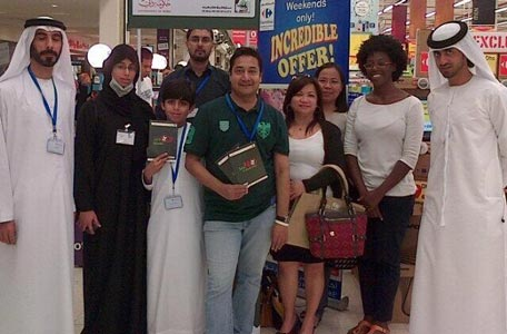 Volunteers and residents get involved in Dubai Municipality's 'no to plastic' drive. (Supplied)