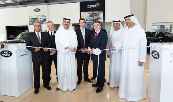 (From left to right) Ashok Khanna, CEO of Al Tayer Motors, Talal Merheb, General Manager – Jaguar Land Rover, Al Tayer Motors; Matar Humaid Al Tayer, ...