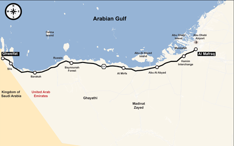 Dubai to Abu Dhabi on the fast track; New Mafraq-Ghweifat road ...