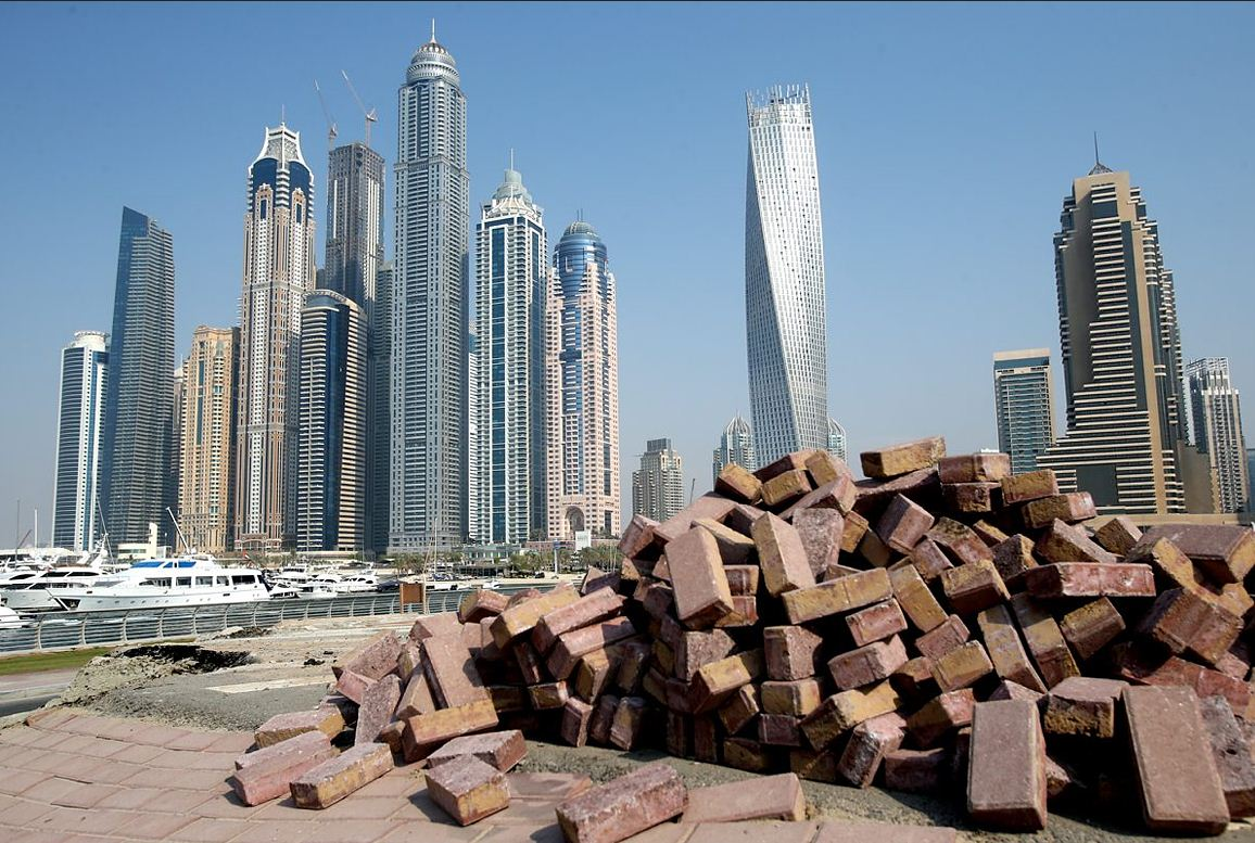 Tall towers on Dubai Marina skyline, September 19, 2013. (Patrick Castillo)
