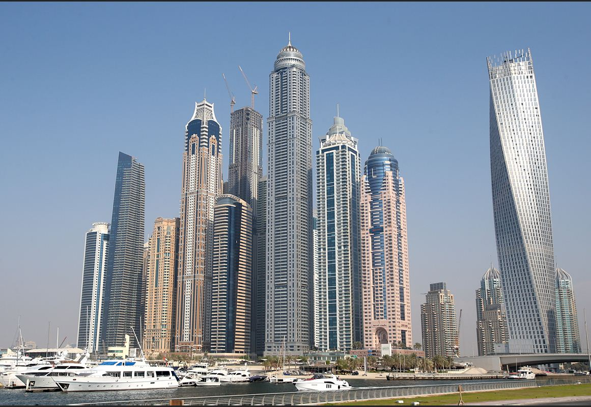 Princess Tower stands the tallest in Dubai Marina in what is termed as the 'tallest block in the world'. (Patrick Castillo)