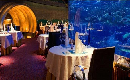 Al Mahara The Fine Dining Seafood Restaurant In Burj Arab Supplied