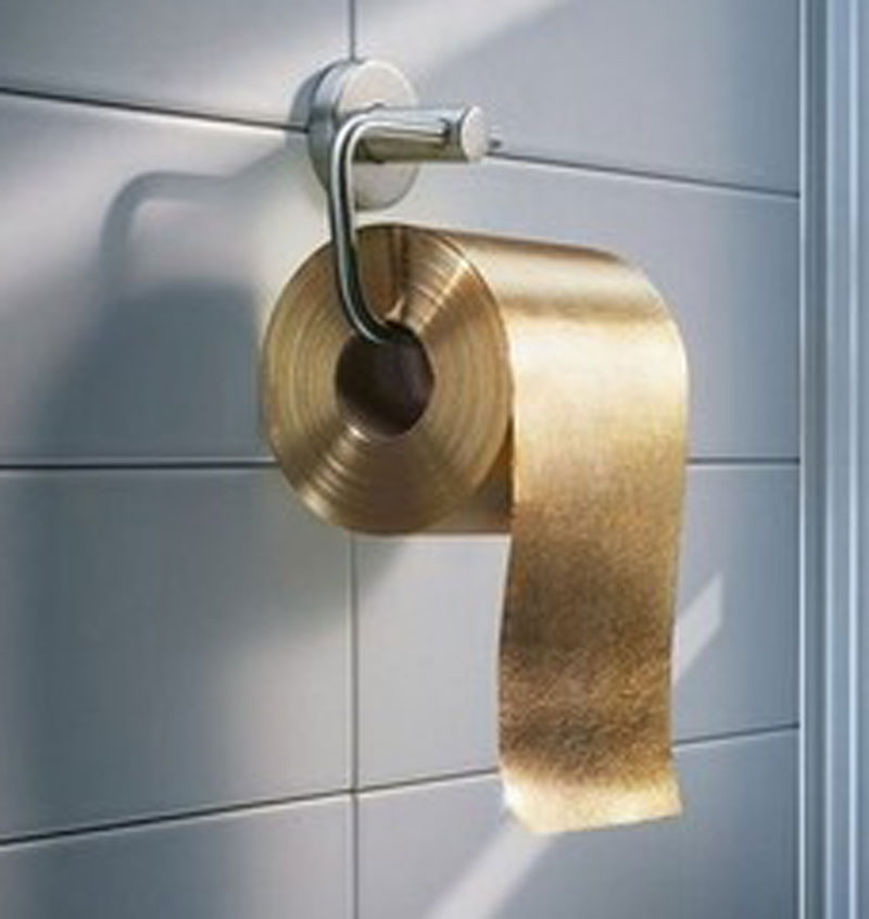 Bizarre: Dh4.7m gold toilet paper... 100% usable - Emirates24|7