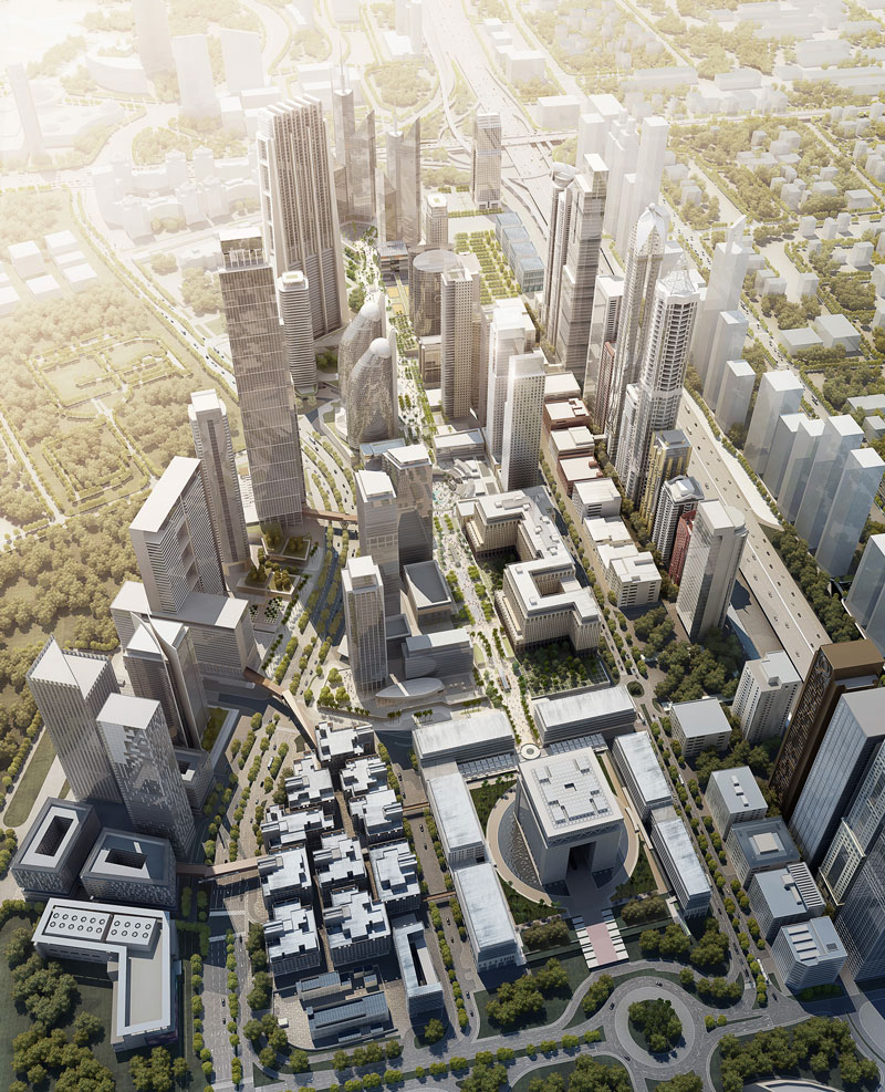 An artist's impression of DIFC's new master plan (SUPPLIED)