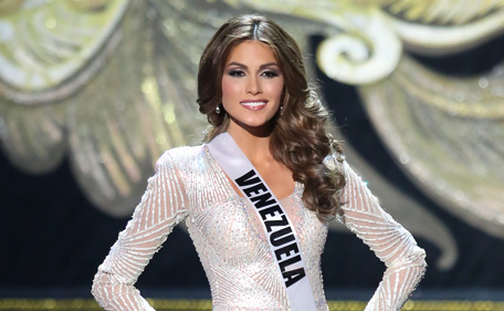 Gabriela Isler of Venezuela walks the stage during the Miss Universe Pageant Competition 2013  on November 9, 2013 in Moscow, Russia. (Getty Images)