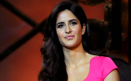 Indian Bollywood actress Katrina Kaif poses during the music launch for the forthcoming Hindi film 'Dhoom 3' in Mumbai  late November 14, 2013.  (AFP)