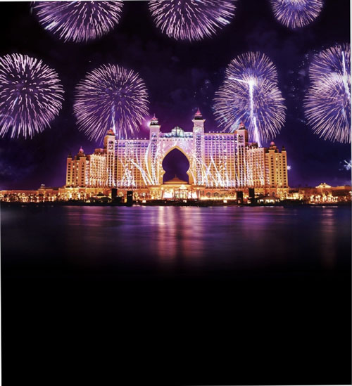 Fireworks at Atlantis, The Palm. (SUPPLIED)
