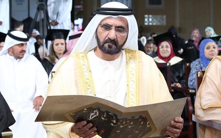 His Highness Sheikh Mohammed bin Rashid Al Maktoum attends graduation ceremonies (Wam)