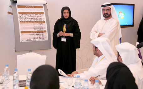 "His Highness Sheikh Mohammed bin Rashid Al Maktoum visits the ""Government Innovation Lab"" (Wam)"