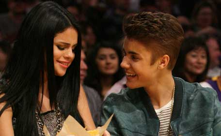 Selena Gomez and Justin Bieber. (BANG)
