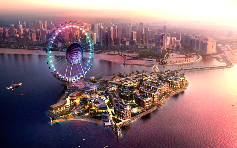 An artist's impression of the Meraas Holding development, off the Jumeirah Beach Residence coastline. (Supplied)