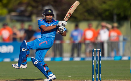 Rohit Sharma of India bats during the first one day international (ODI) cricket match between New Zealand and India at McLean Park in Napier on January 19, 2014. (AFP)