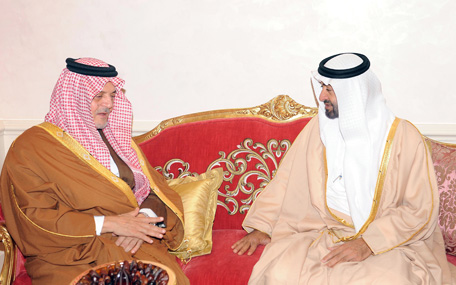 General Sheikh Mohammed bin Zayed Al Nahyan receives Saudi Foreign Minister Prince Saud Al Faisal (Wam)