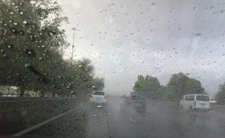 Rain this morning in Dubai. (Pic: Imran Shah)