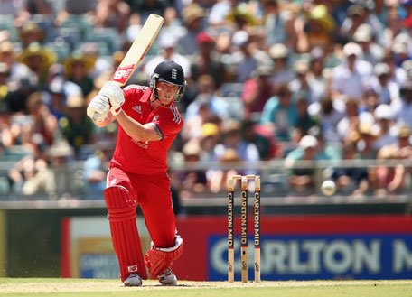 Ben Stokes of England bats during game four of the One Day International series between Australia and England at WACA on January 24, 2014 in Perth, Australia. (GETTY)