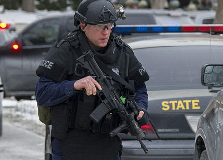 "Maryland State Police patrol the Columbia Mall after a fatal shooting on January 25, 2014, in Columbia, Maryland. Three people were killed in a shooting at the popular shopping mall, located about 45 minutes outside Washington, authorities said Saturday. Howard County, Maryland, Police announced the fatalities and urged people inside the Mall ""to stay in place.""Police said one of the dead was ""located near gun and ammunition."" (AFP)"