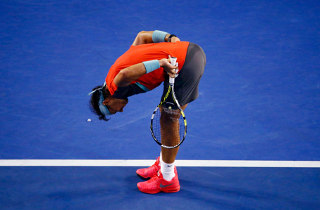 Rafael Nadal of Spain reacts during his men's singles final match against Stanislas Wawrinka of Switzerland at the Australian Open 2014 tennis tournament in Melbourne January 26, 2014. (REUTERS)