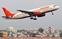 Photo: Air India jet hits wall on takeoff