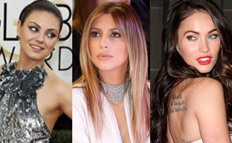 Mila Kunis, Kim Kardashian, Megan fox among World's 30 Most Beautiful Women of 2014.