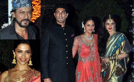 Ahana's wedding: Amitabh, Rekha, Ash, SRK... - Emirates 24|7