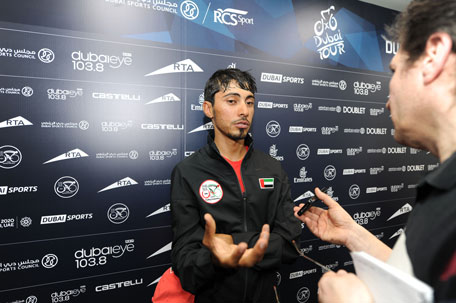 UAE national team captain Yousef Mirza at the Dubai Tour pre-event press conference at the World Trade Centre on Tuesday. (SUPPLIED)