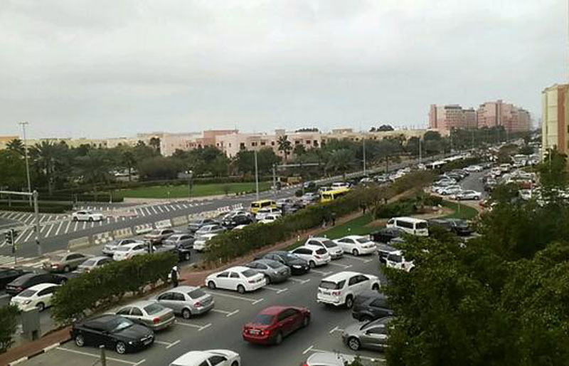 Morning gridlock: Discovery Gardens commuters caught in a jam (SUPPLIED)